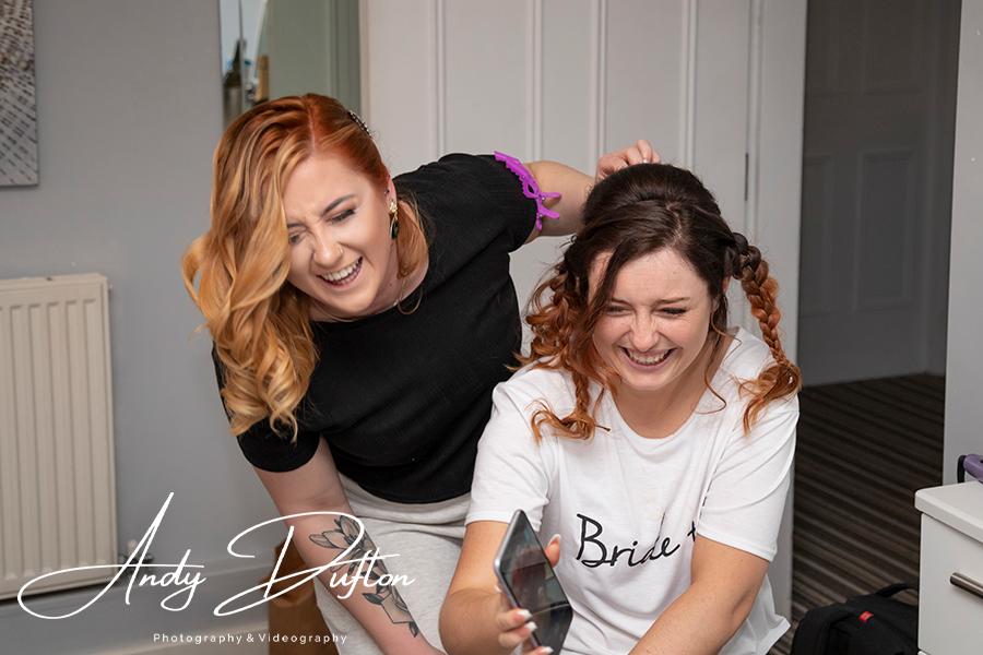 Wedding hair York photographer